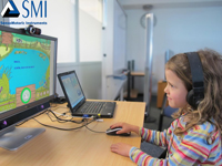 Image of Girl in Eye Tracking Lab